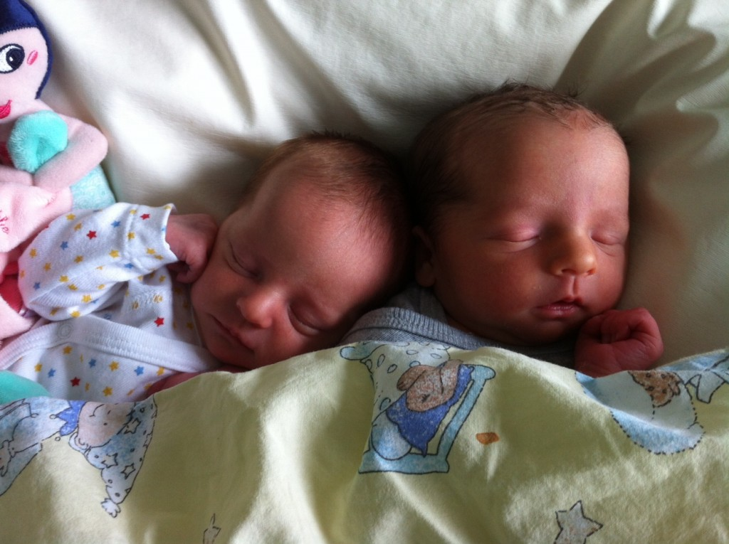 Azéline et Charly nés le 23 août 2015