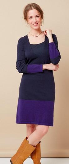 Encore une bonne idée pour passer l'hiver au chaud quand on est enceinte ! Cette robe évolue avec vous durant votre grossesse et vous accompagne pendant l'allaitement ! Robe évolutive grossesse et allaitement tricot, Vert Baudet 44,95 euros.