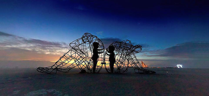 sculpture nuit