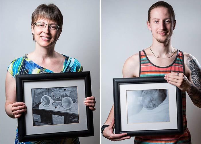 Julie, née à 7 mois de grossesse et son fils Kevin, né à 34 semaines