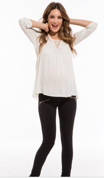 Pour un look casual comme chic, ce legging zippé se porte à toutes occasions et même après la grossesse puisqu'in ne possède pas de bandeau. Pour une grossesse à l'aise ! Legging grossesse, Envie de Fraise, 39,99 euros.