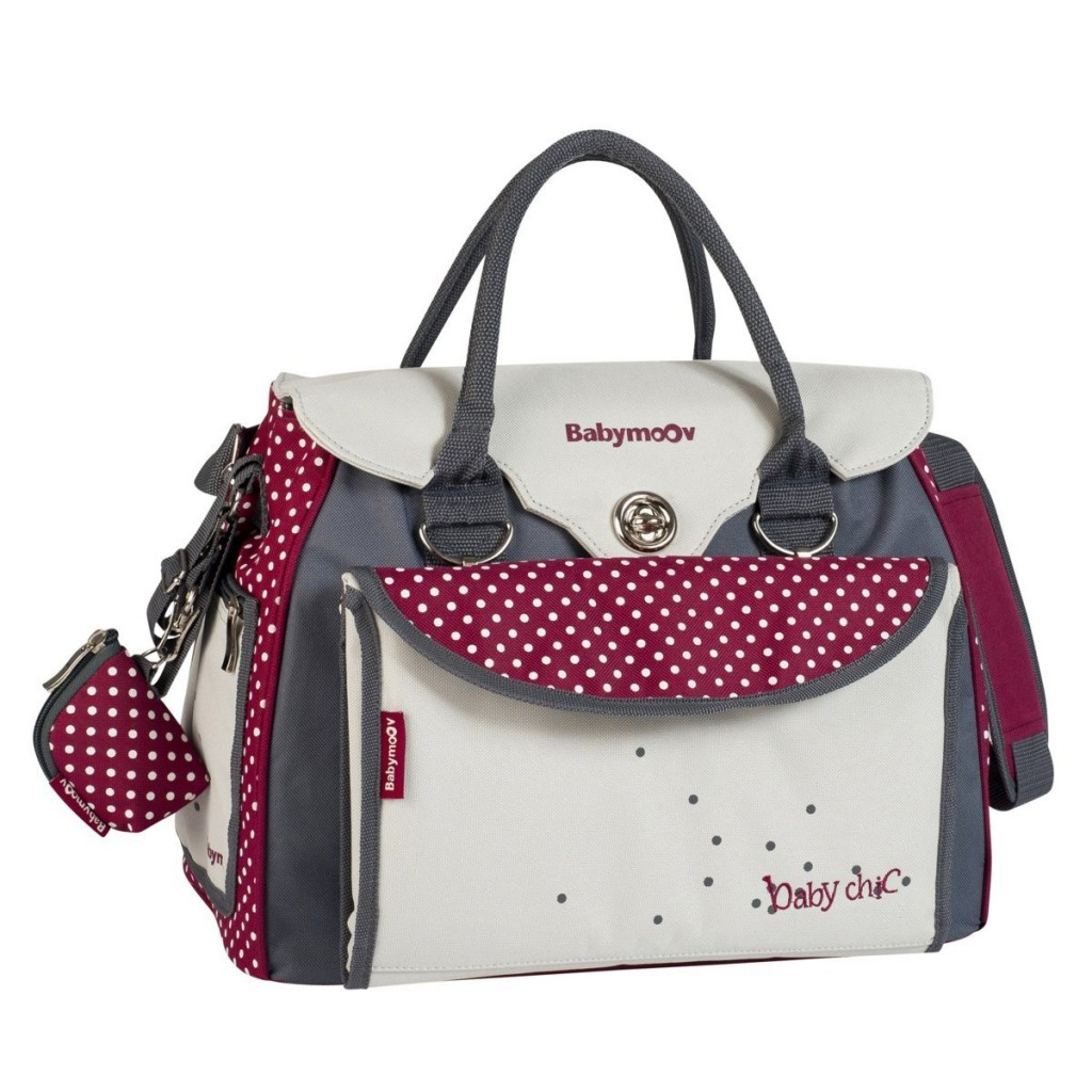 Sac e langer Baby Style coloris gris pois rouge babymoov 50.39 euros