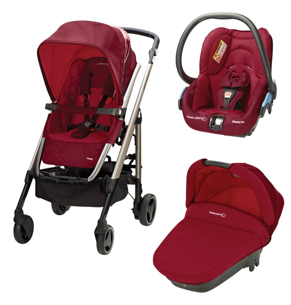 bebe Confort Poussette Combinee Trio Loola Excel Collection 2014 Raspberry Red
