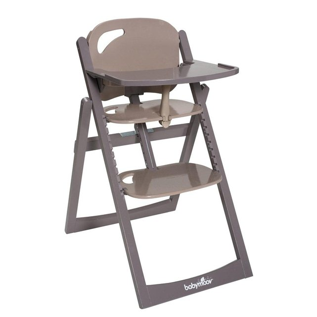 chaise haute light wood babymoov