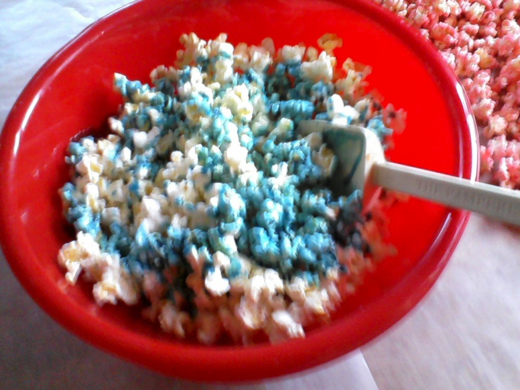 colore le pop corn