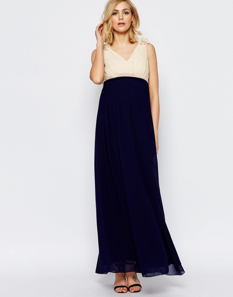 Asos Little Mistress Maternity maxi robe