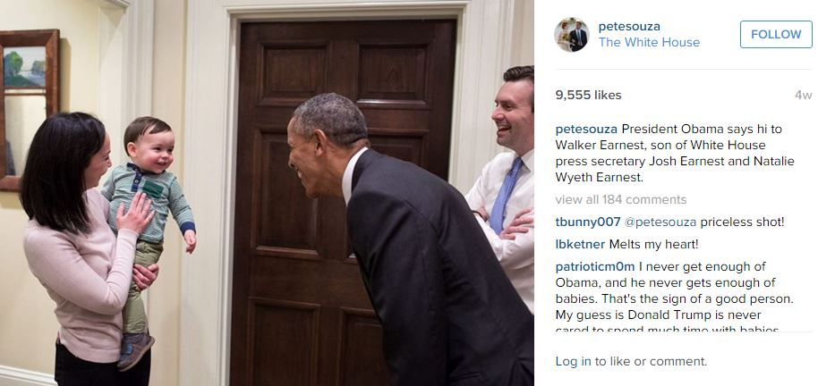 ©PeteSouza The White House/Instagram