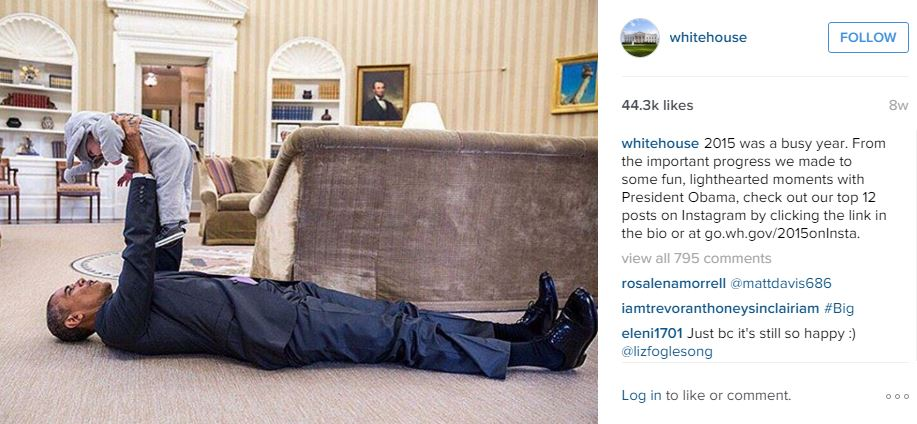 ©The White House/Instagram