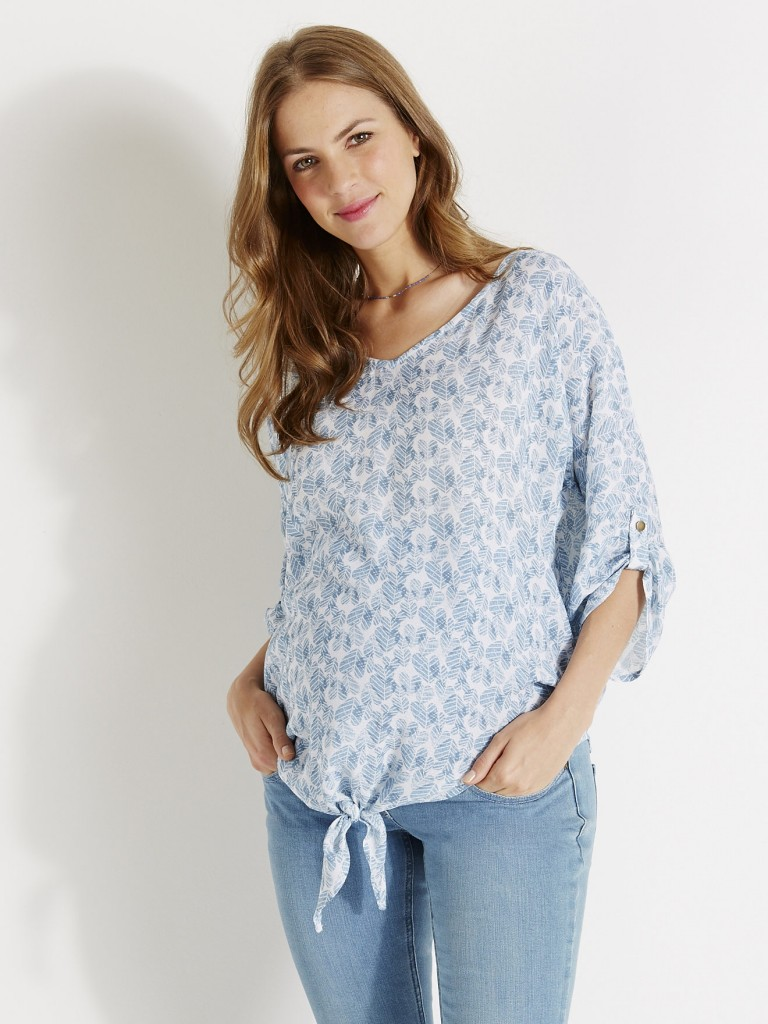 blouse fleurie vertbaudet 2