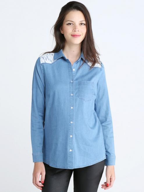 chemise en jean dentelle emoi emoi 95 euros