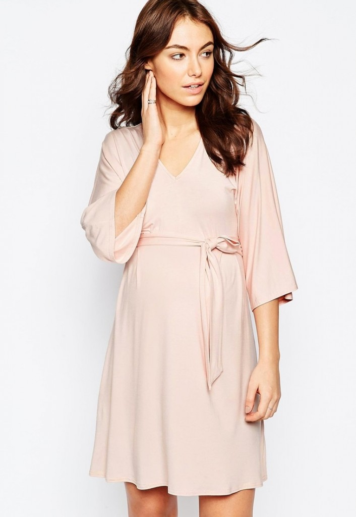 robe rose quartz asos maternity 30,99 euros