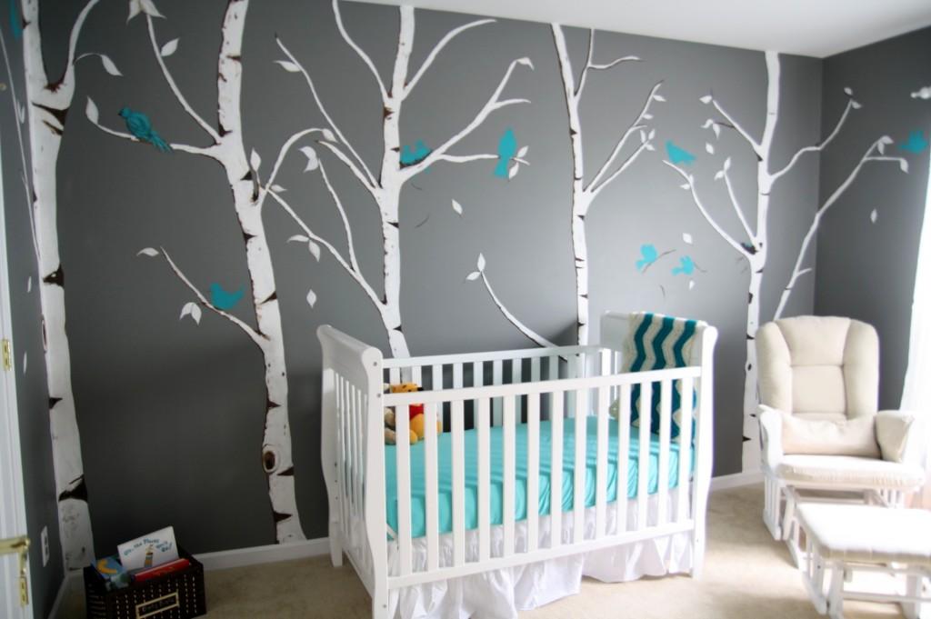 bleu gris blanc chambre