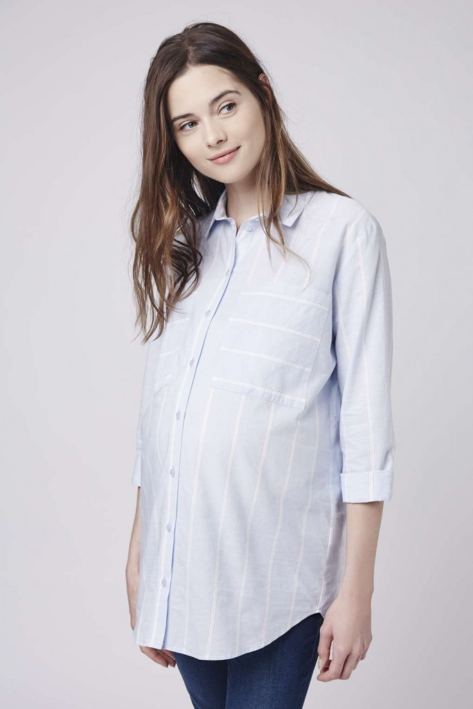 chemise bleue serenite topshop 50 euros