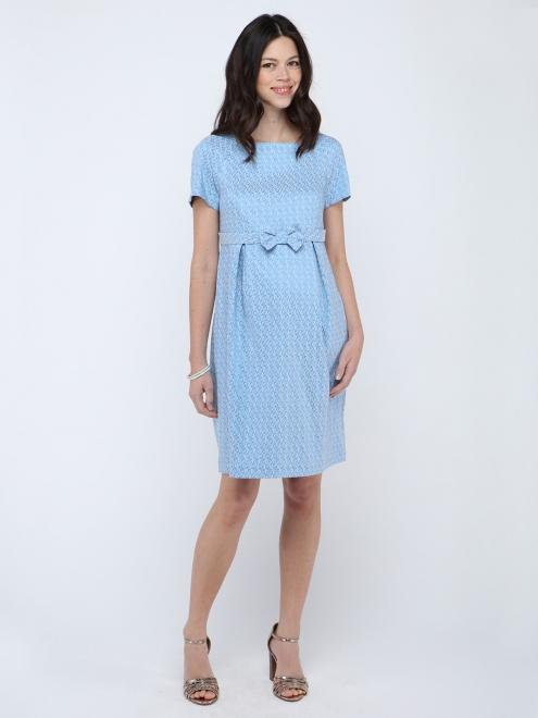 robe bleu cocktail grossesse