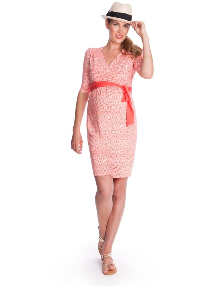 robe corail a ceinture printemps