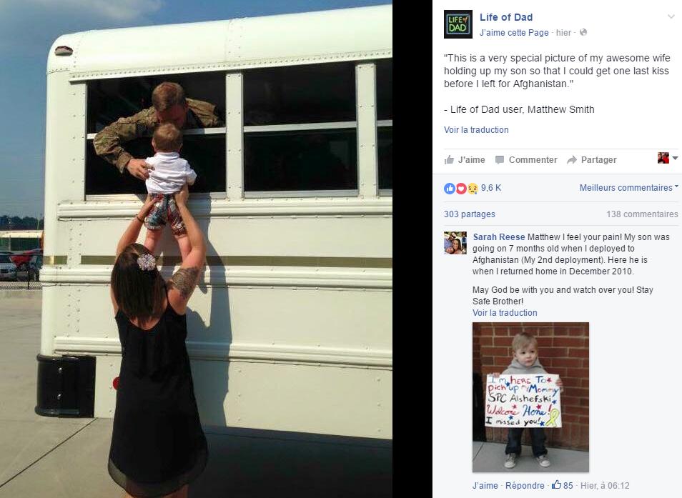 capture ecran facebook au revoir papa bebe depart pour armee