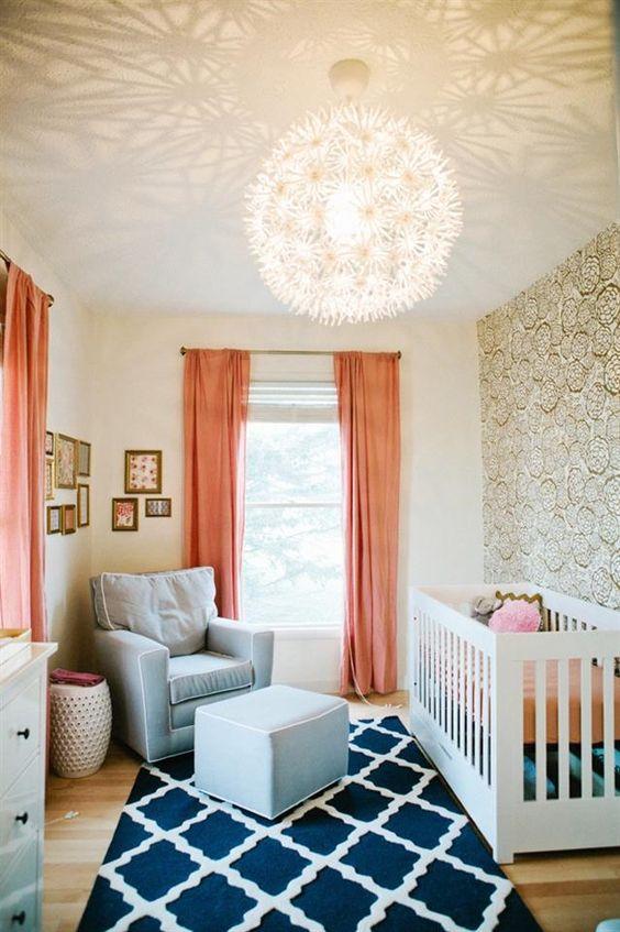 chambre bébé couleur corail-romantique