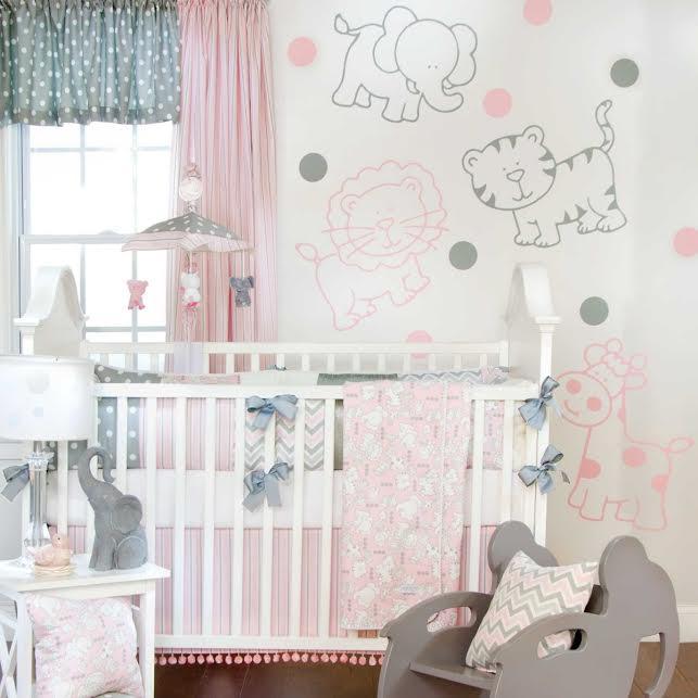 chambre pastel gris rose poudre