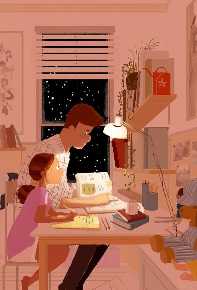 dessin pascal campion devoirs pere et fille