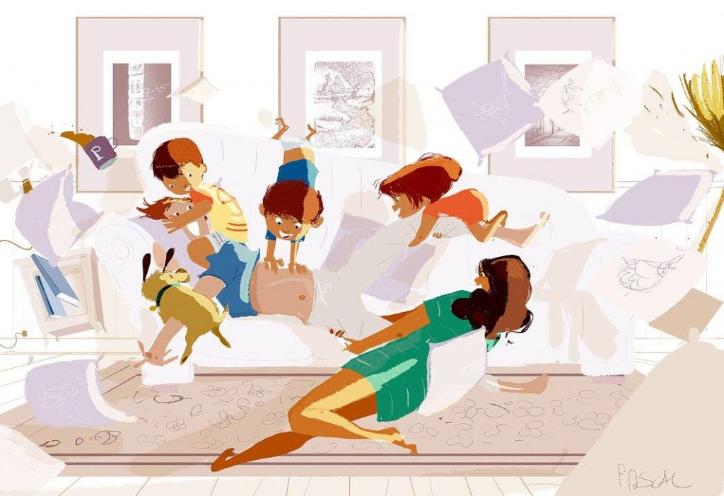 dessin pascal campion moment convivialite parents et enfants