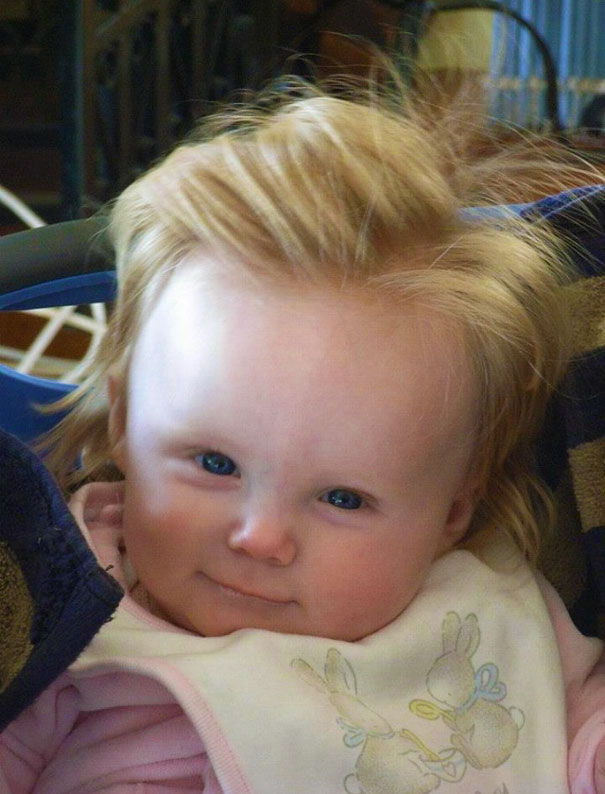photo bebe chevelu blond