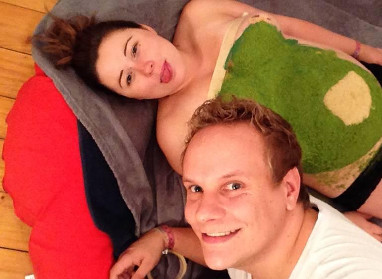 photo de couple annonce grossesse simon et saskia