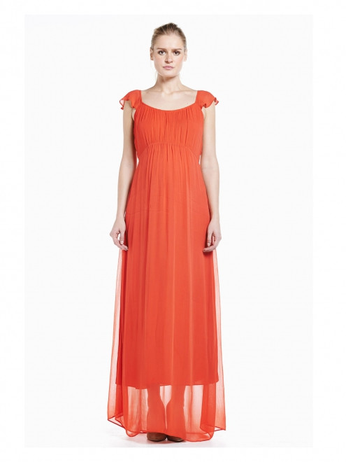 robe longue corail
