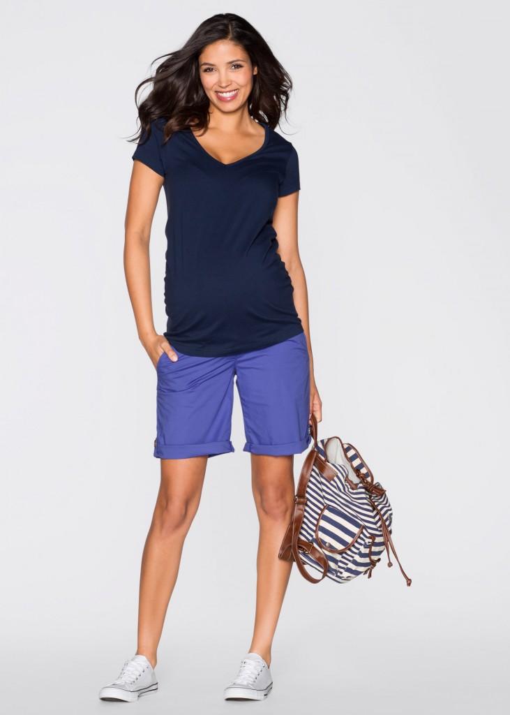 short grossesse bleu violet