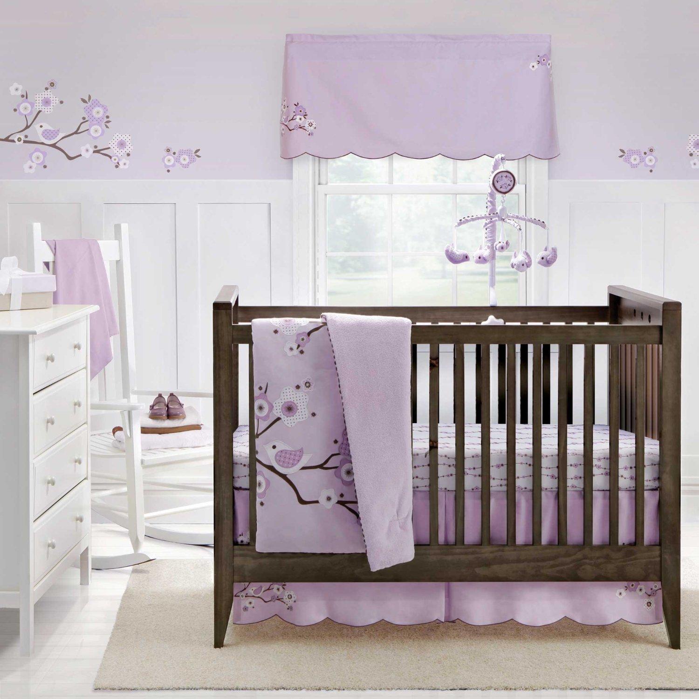 chambre bebe lilas bois