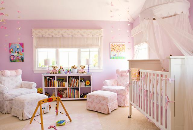 chambre bebe lilas rose pastel liberty
