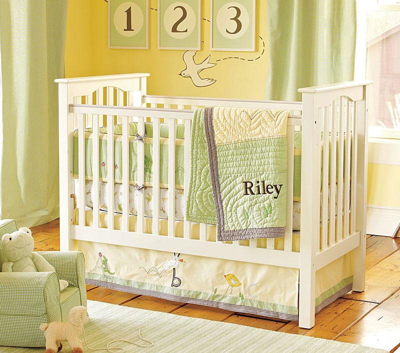 7 id es de chambres de b b joliment teint es de vert. Black Bedroom Furniture Sets. Home Design Ideas