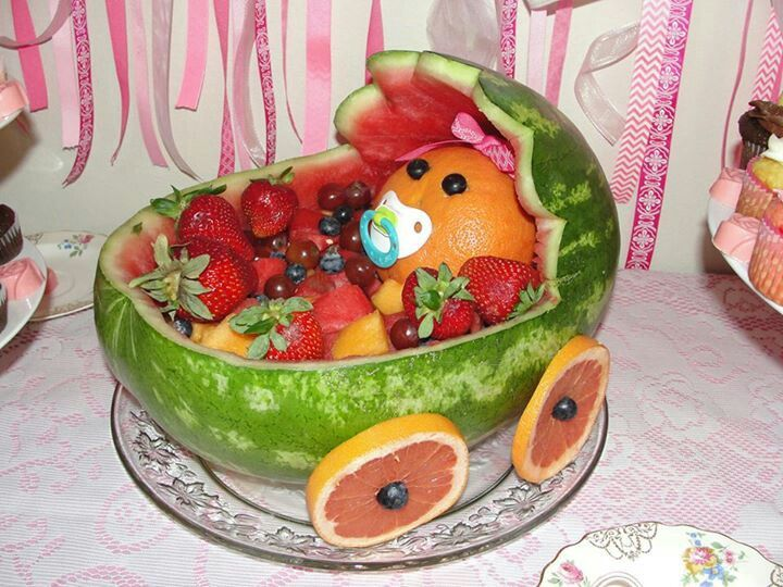 gateau de fruits baby shower