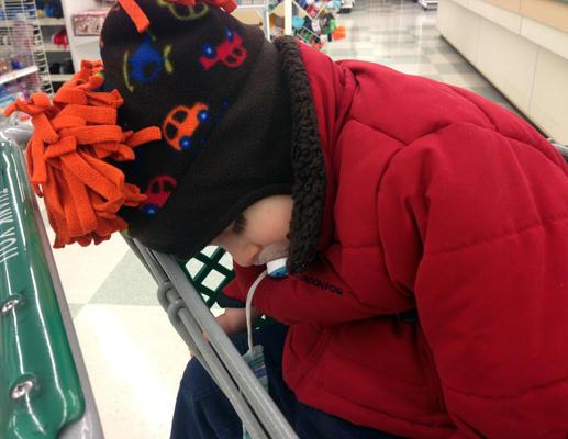 bebe endormis supermarche