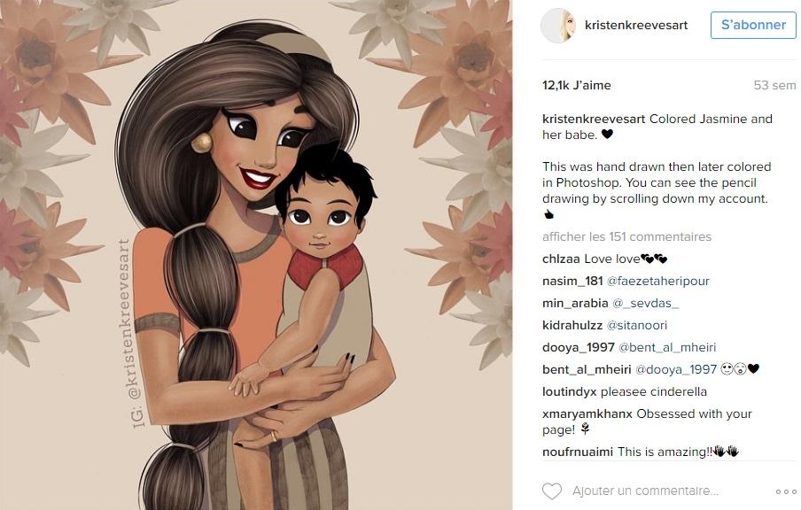 princesses-disney-deviennent-maman-kristenkreevesart-instagram-jasmine