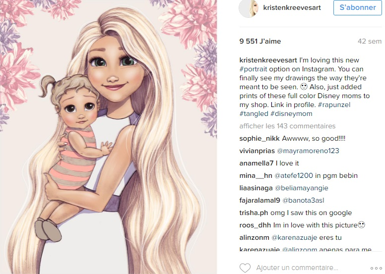 princesses-disney-deviennent-maman-kristenkreevesart-instagram-raiponce