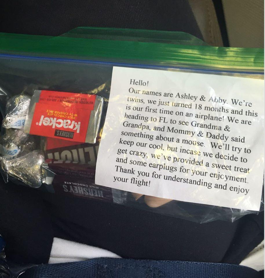 avion avec bebe cadeaux pour autres voyageurs