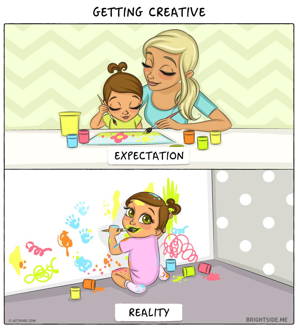 bebe attentes realite dessin