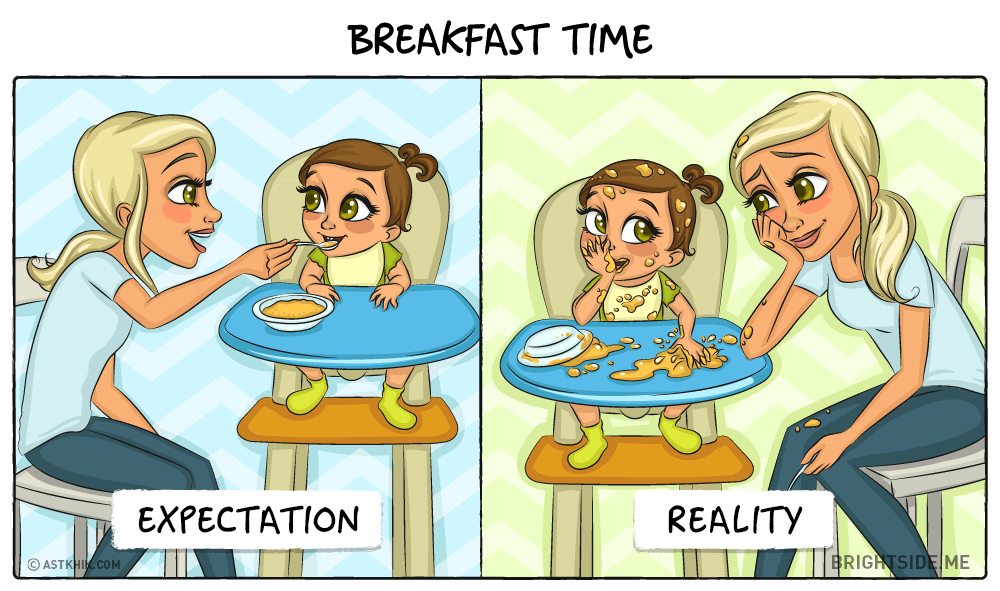 bebe attentes realite petit dejeuner