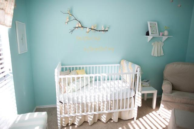 5 d corations pour chambre de b b o chantent les petits oiseaux. Black Bedroom Furniture Sets. Home Design Ideas