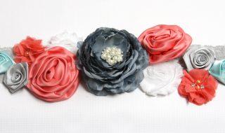 diy ceinture fleurs babay bump