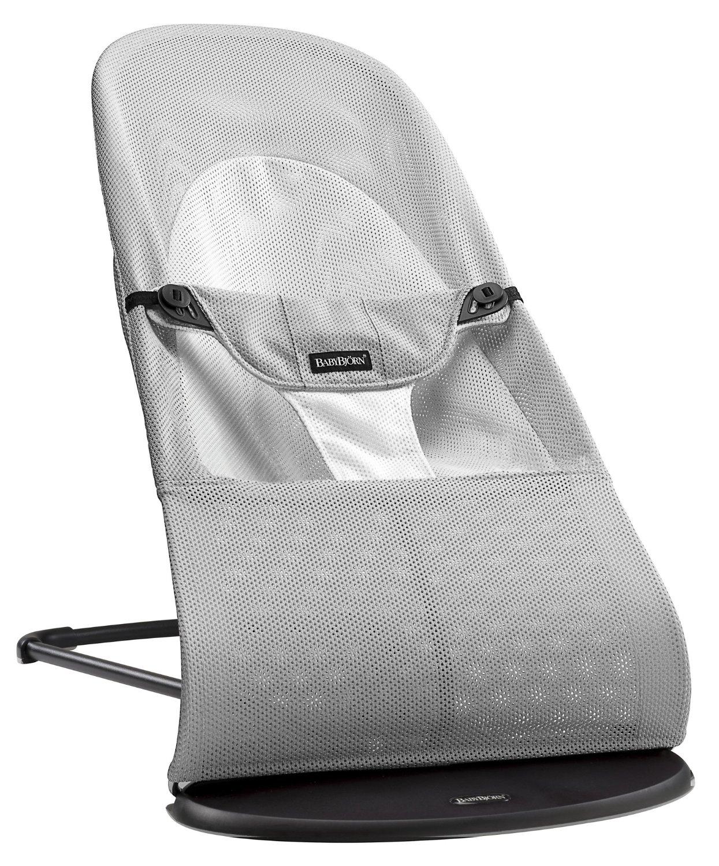Babybjorn Transat Balance Soft AIR Argent, Blanc
