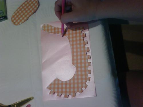 DIY babyshower mini souliers etape 1