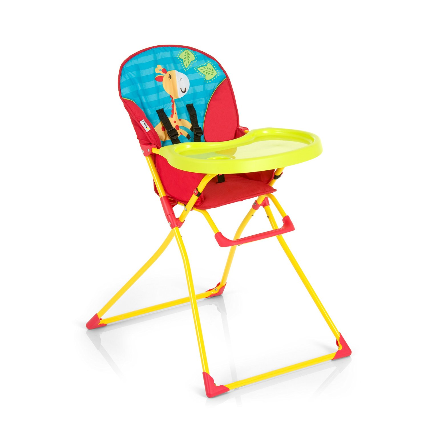Hauck Chaise Haute - Mac Baby, rouge et turqoise