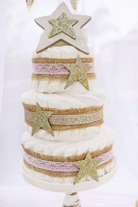 gâteaux de couches-neufmois-doré