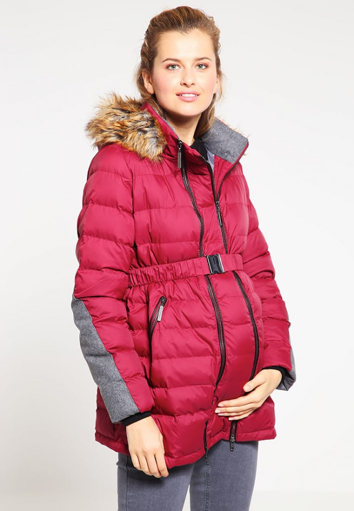 shopping rouge manteau de grossesse zalando