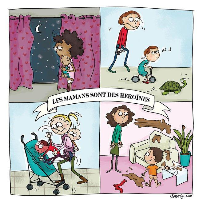 9 maman de 3 enfants elle illustre son quotidien avec beaucoup d humour maman heros