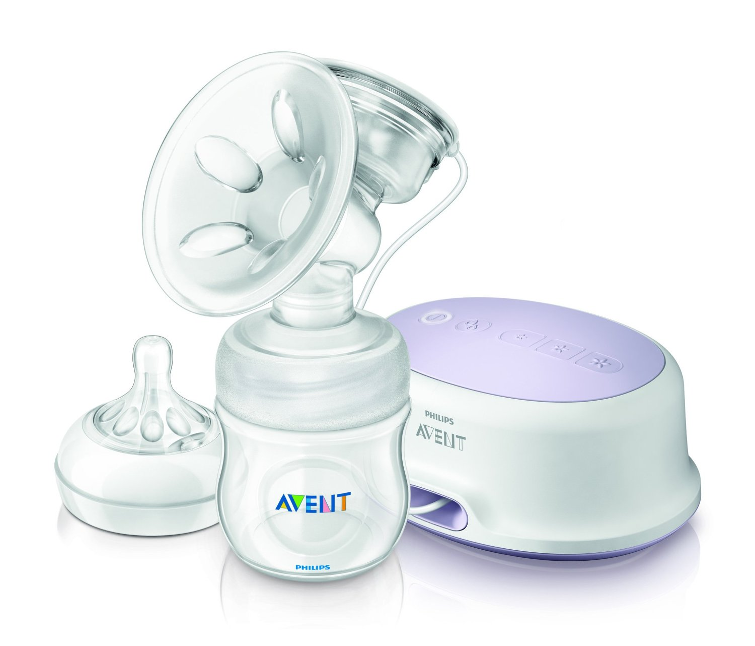 Philips Avent Tire-Lait Electronique Simple avec 1 Biberon 125 ml et 1 Tetine 1 Trou Natural