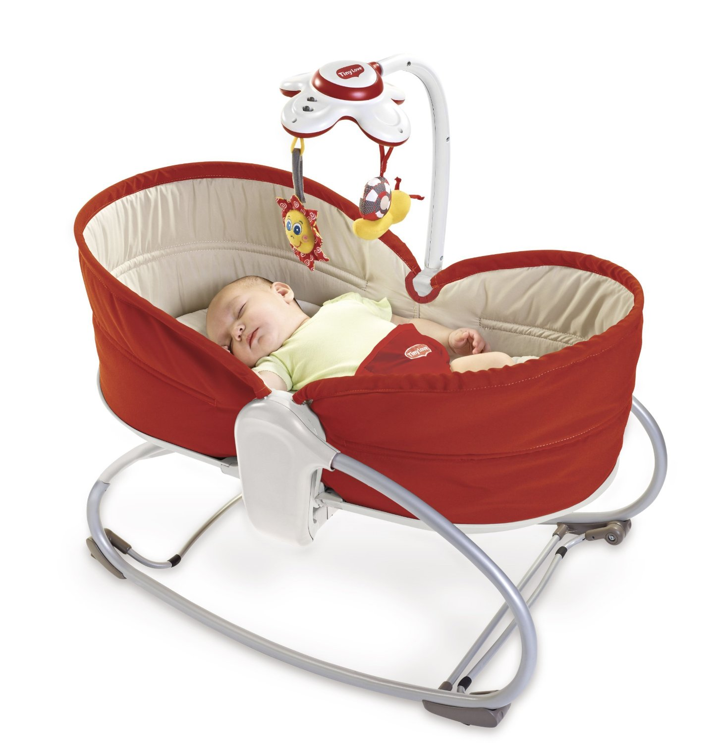 Tiny Love Transat & Balancelle Rocker Napper 3 en 1 Rouge