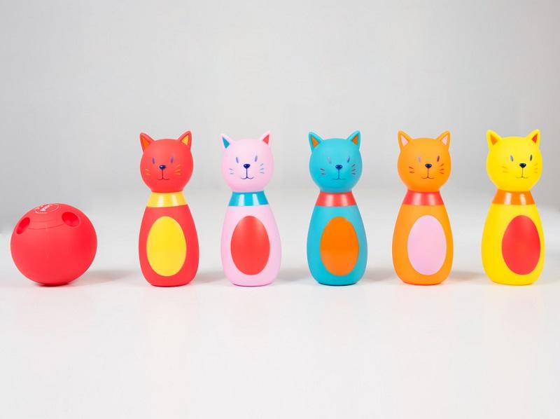 12 - LUDI - Jeu de quilles chat