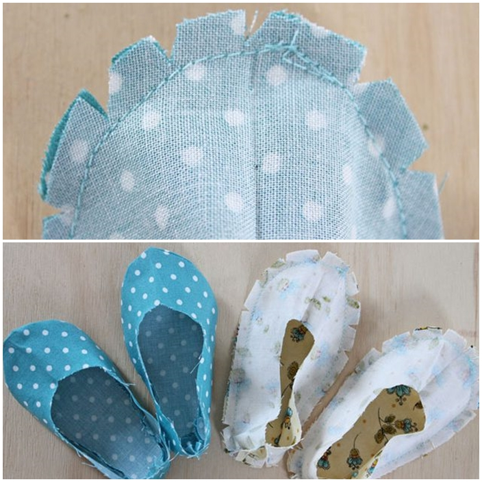DIY chaussures bebe couture cranter